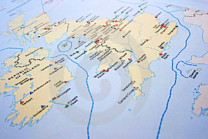 United Kingdom Map Royalty Free Stock Image - Image: 18373706