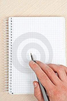 Anteckningsbokwriting Arkivfoton - Bild: 18374333