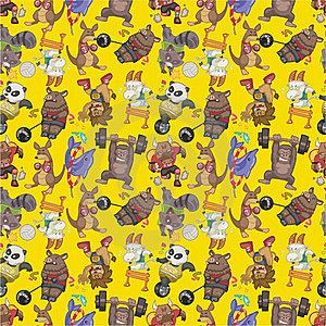 Seamless Animal Sport Pattern Stock Photos - Image: 18374413