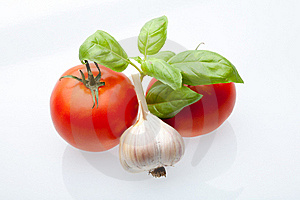 Tomato, Mint And Garlic Royalty Free Stock Images - Image: 18374739