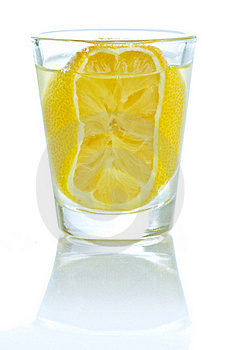 A Shot Of Lemon Liqueur Royalty Free Stock Photo - Image: 18375315