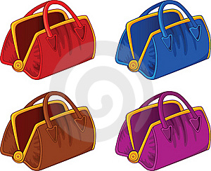 Color Handbags Royalty Free Stock Image - Image: 18375686