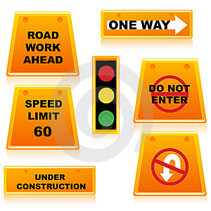 Traffic Signal With Boards Royalty Free Stock Photos - Image: 18375718