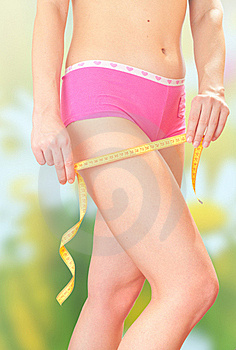 The Girl Measures The Amount Of Hip. Royalty Free Stock Images - Image: 18376009