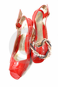 Woman Red Shoe Stock Image - Image: 18377191