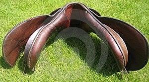 Older English Saddle - Gullet Of The Saddle Stock Photos - Image: 18378763