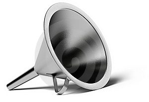 Stainless Steel Funnel Royalty Free Stock Images - Image: 18378809