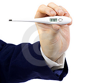 Electronic Thermometer Royalty Free Stock Photos - Image: 18379258