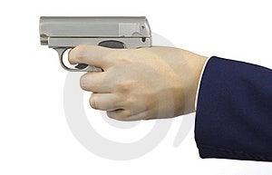 Ladies Gun Royalty Free Stock Photos - Image: 18379438