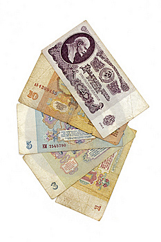 Old Soviet Russian Money Royalty Free Stock Photography - Image: 18380217