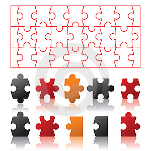 Puzzles Stock Image - Image: 18381231