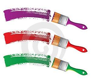 Paintbrushes Royalty Free Stock Photos - Image: 18381238