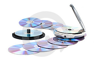 CD-player And CDs. Royalty Free Stock Image - Image: 18381936