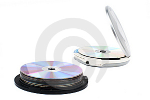Cd-player And CDs. Royalty Free Stock Images - Image: 18382019