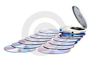 CD-player And CDs. Stock Photos - Image: 18382103