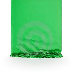Zielony Draperia Jedwab Obraz Stock - Obraz: 18382181