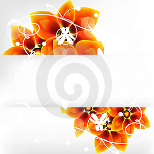 Flower Background With A Banner Royalty Free Stock Photos - Image: 18382978