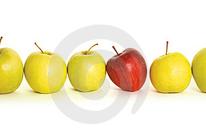 Apples Isolated On White Background Royalty Free Stock Photo - Image: 18388205
