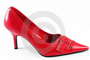Red Shoe On White Stock Photo - Image: 18389140