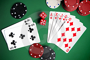 Playing Cards And Chips Stock Image - Image: 18389961