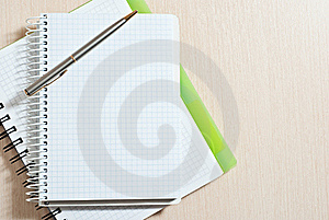 Note Pad And Pen Royalty Free Stock Photo - Image: 18390355