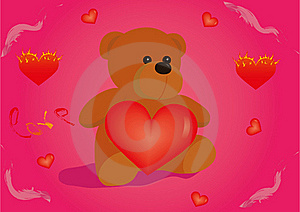 Teddy Bear With Heart Stock Images - Image: 18391114