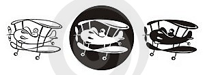Biplanes_B&W Royalty Free Stock Photo - Image: 18391185