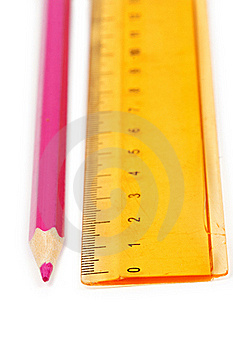 Red Pencil And A Yellow Line Stock Photography - Image: 18391512