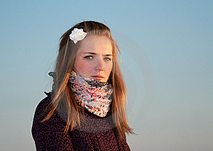 Portrait Of A Beautiful Girl Stock Photography - Image: 18391762