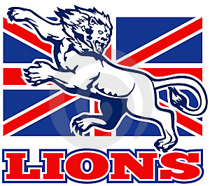 Lion Great Britain Union Jack Flag Stock Photo - Image: 18391870