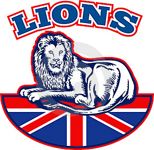 Lion Great Britain Union Jack Flag Royalty Free Stock Images - Image: 18391879