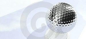 Chrome Golf Ball Stock Photography - Image: 18393552