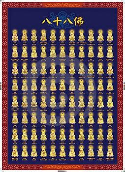 Eighty-eighth Buddha Stock Photos - Image: 18393903