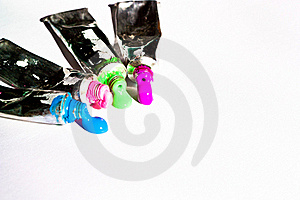 Watercolor Tubes Royalty Free Stock Image - Image: 18395636