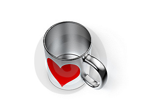 Cup With Heart Royalty Free Stock Photo - Image: 18395865