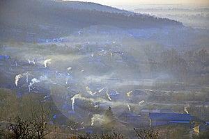 Village Chimneys Royalty Free Stock Photos - Image: 18396778