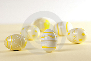 Easter Eggs In Triangle Position Stock Photos - Image: 18398523