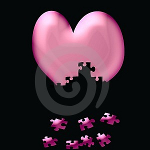 Heart Fall To Pieces Royalty Free Stock Photos - Image: 1841308