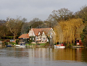 Riverside House Royalty Free Stock Photo - Image: 1842745