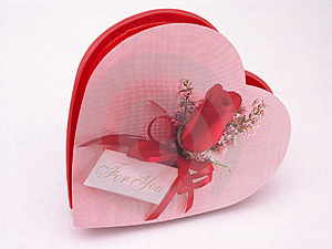 Valentines Candy Box - Rose 5 Stock Photos - Image: 1845753