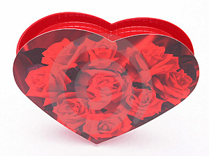 Valentines Candy Box - Roses 1 Stock Image - Image: 1845761