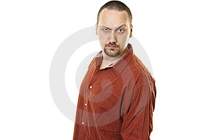 Serious Man With A Beard And Mustache Royalty Free Stock Photos - Image: 18400498