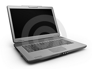 Black Laptop Stock Photo - Image: 18401490