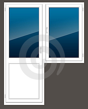 Plastic Window With A Door Royalty Free Stock Image - Image: 18401716