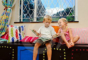 Happy Story Time Royalty Free Stock Photography - Image: 18402137