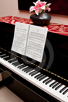 Piano And Song Book Stock Image - Image: 18403021