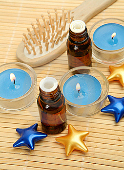 Aromatic Oil And Candles Royalty Free Stock Photos - Image: 18403678