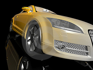 Yellow Sport Car Stock Image - Image: 18405931