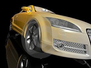 Yellow Sport Car Stock Image - Image: 18405931