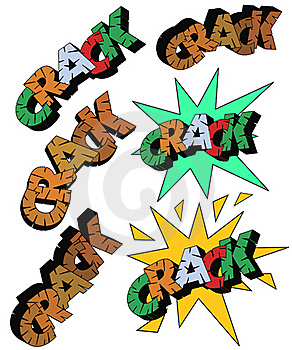 Crack In Comic Styles Royalty Free Stock Image - Image: 18406646